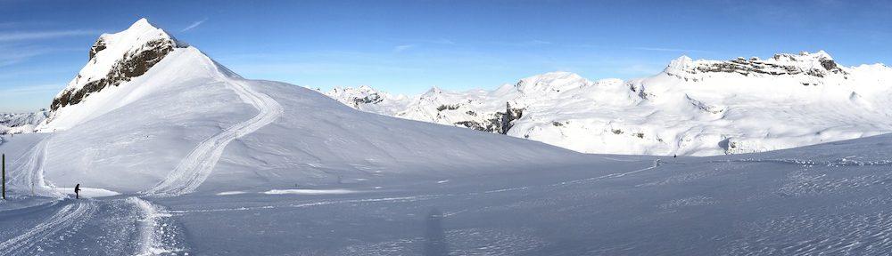 paysage activité montagne sport hiver