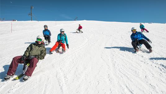 paret et yooner glisse station ski