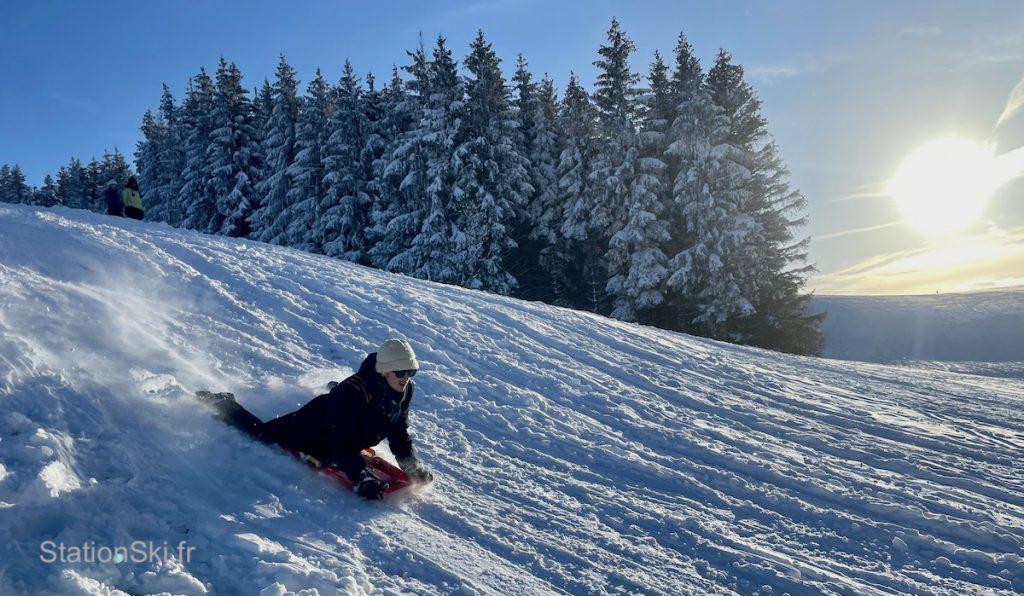 luge pistes de ski en station