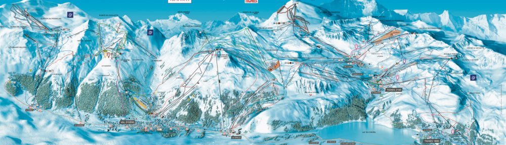 Plan des pistes Tignes Val d'Isère